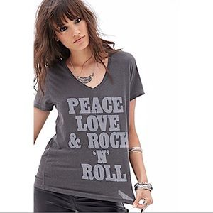 Peace love and rock and roll tshirt